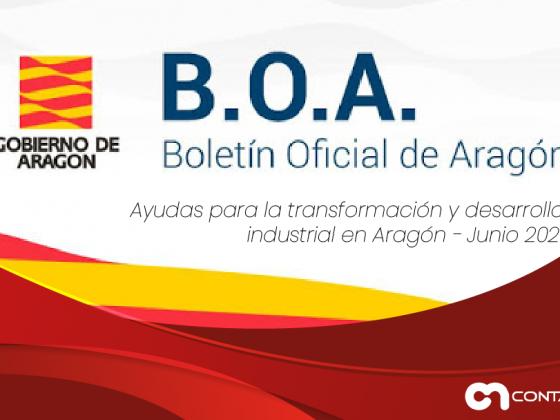 Ayudas para la transformación y desarrollo industrial en Aragón
